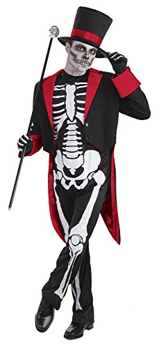 Bristol Novelty AC437 Mr Bone Jangles Costume, Red, 44-Inch]()