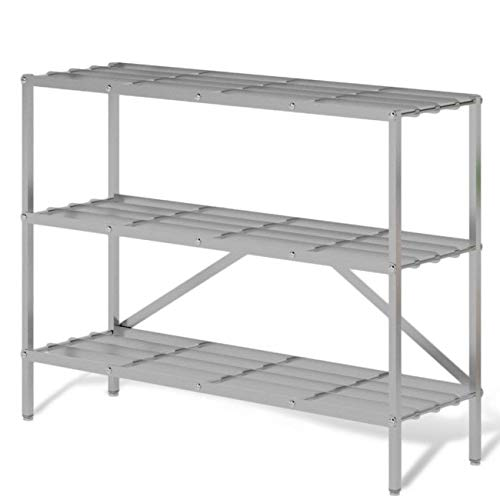 Shoe Shelves Storage Rack Organizer for Entryway | Corrosion & Rust Resistant Strong Aluminum Design, Dimensions: 36 x 10.2 x h26 in, Weight: 6.8 lb | Durable Hallway Shoe Storage Organizer Rack