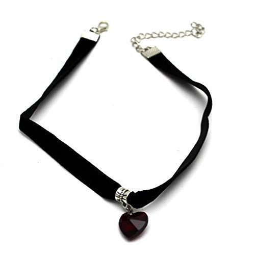 Elegant Crystal Pendant Necklace Decor%C2%A3%C2%A8Red%C2%A3