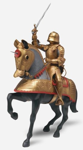(Monogram Gold Knight with Horse Plastic Model)