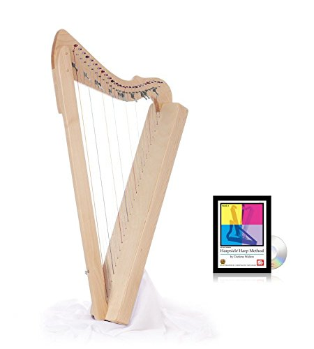 Flatsicle Harp w/ Book & DVD - Natural Maple by Harpsicle Harps
