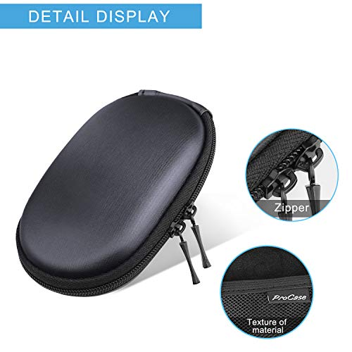 ProCase Apple Magic Mouse Case Bag Organizer, Portable Hard Shell EVA Protective Carrying Pouch Travel Case for MacBook Magic Mouse 2 1 and Logitech Notebook Mouse -Black