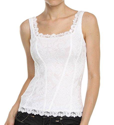 Arianne Women's Victoria Camisole Corset,White,Medium