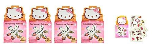 (Hello Kitty Temporary Tattoos x 4 box (each box has 20 tattoos))