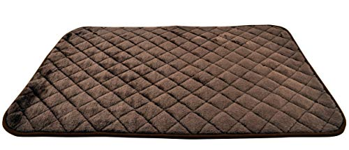 SNOOZZY BROWN 35X21.5 QUILTED ()
