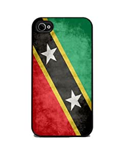 Saint Kitts and Nevis Flag - iPhone 4 or 4s Cover, Cell Phone Case - Black