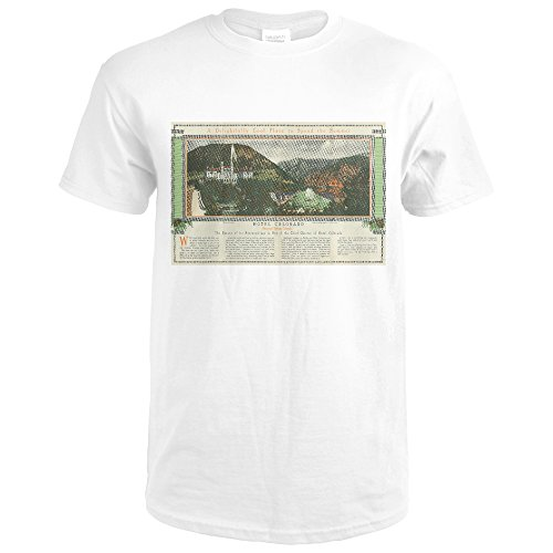 Glenwood Springs, Colorado - Hotel Colorado Brochure (Premium White T-Shirt Medium) (Hotel Brochure)