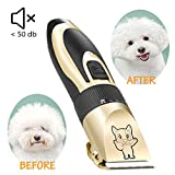 Dog Grooming Kit Clippers, Electric Quiet, Low Noise, Rechargeable, Cordless, Pet Hair Thick