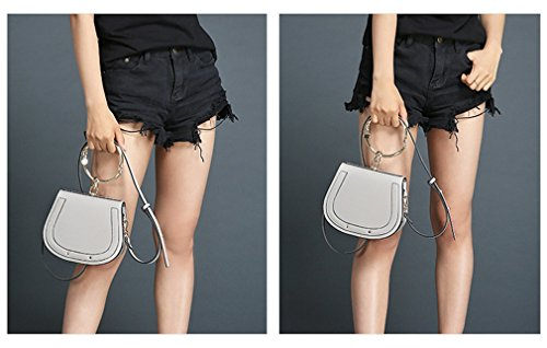 Girls Small 22x8x16cm Women Small For Casual Crossbody White Messenger Bag Kaoling Cloe Bag Gray 1qOFEdTx