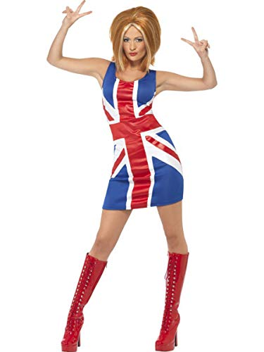Fest Threads 1 PC Women's UK Pop Star Spice Lady Flag Dress Party Costume ()