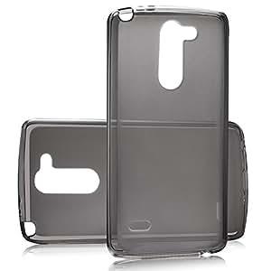 tinxi® Funda de silicona para LG G3 Stylus Caso de silicona TPU caso de la cubierta de la contraportada de silicona protectora caso bolsa transparente y negro fondo