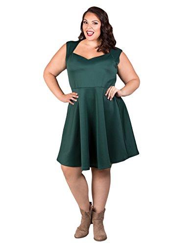 Sealed with a Kiss Designs Plus Size Stephanie Dress - Size 1X, Forestgreen (Stephanie Design)