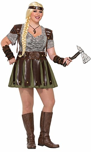 Forum Novelties Women's Plus-Size Viking Woman Costume, Multi ()