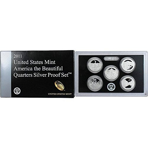 2011 S Silver National Park Quarter Set OGP in box with COA Proof