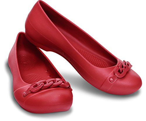 Dark Flat W Flat Gianna Style Crocs Red Link Red Crocs Ladies Shoes Dark UH1z0q