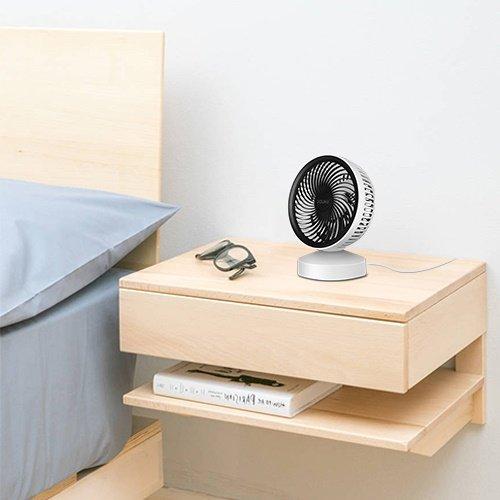 Ventilador USB Mini ventilador de escritorio peque/ño ventilador de escritorio port/átil 7 Turbo Hojas 22 /° Inclinable con mango de eficiencia energ/ética