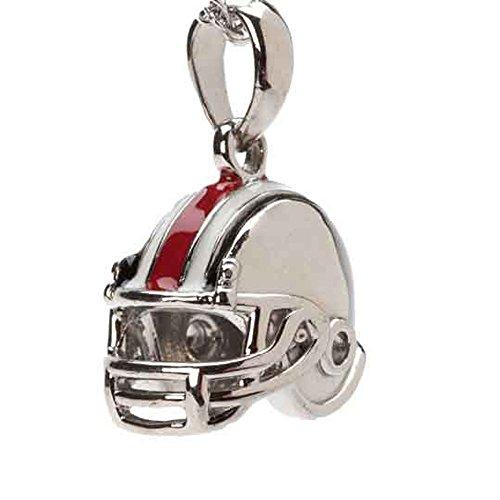 Stone Armory OSU Buckeyes Dangle Football Helmet Bead Charm - Fits Pandora & Others