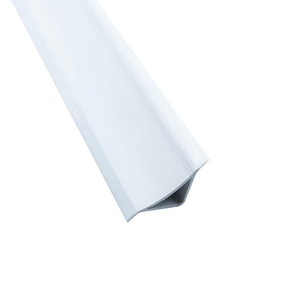 Abschlussleiste 2,5m Winkelleisten Bad Badewanne WC Gummilippe Wand PVC ALU Endkappe PVC grau