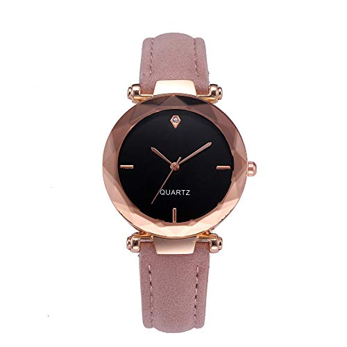 (LUCA Fashion Women Leather Casual Watch Luxury Analog Quartz Crystal Wristwatch)