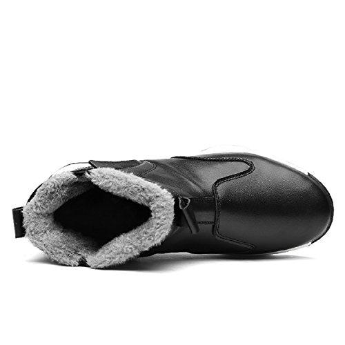 Caldo Nero Scarpe Stivali neve Uomo da Impermeabile Invernali Caviglia con TQGOLD Scarponcino pelliccia ZvxCd7C