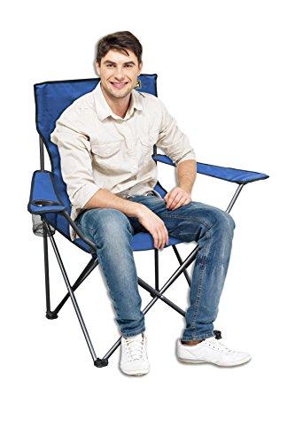 Quik Chair Folding Quad Mesh Camp Chair - Blue
