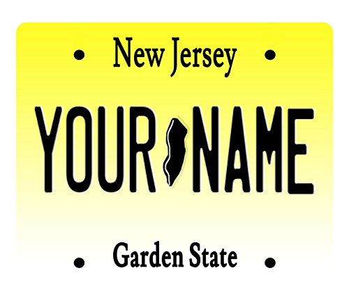 BleuReign(TM) Personalized Custom Name New Jersey License Plate State Square Refrigerator Fridge Magnet