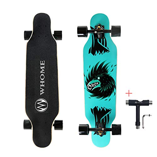 WHOME Skateboard Complete for Adults and Beginners - 31 Inch Small Longboard Skateboard Complete Carving Cruiser T-Tool Included