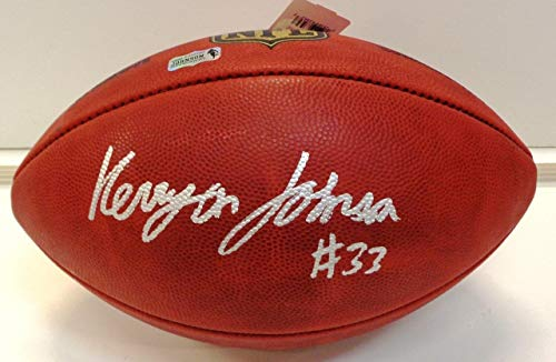 Kerryon Johnson Autographed Official NFL Game Football - Autographed Footballs Autographed Official Nfl Game Football