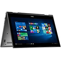 "Dell Convertible 2-in-1 Full HD (1920 x 1080) 15.6"" Touchscreen Premium Flagship Laptop, Intel Core i7-7500U, 8GB DDR4, 1TB HDD, 802.11AC, Bluetooth, 2 x USB 3.0, HDMI, IR Camera- Gray"