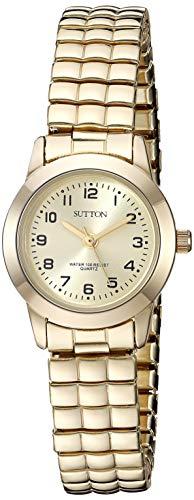 Sutton by Armitron Women's SU/1008CHGP Gold-Tone Expansion Band
