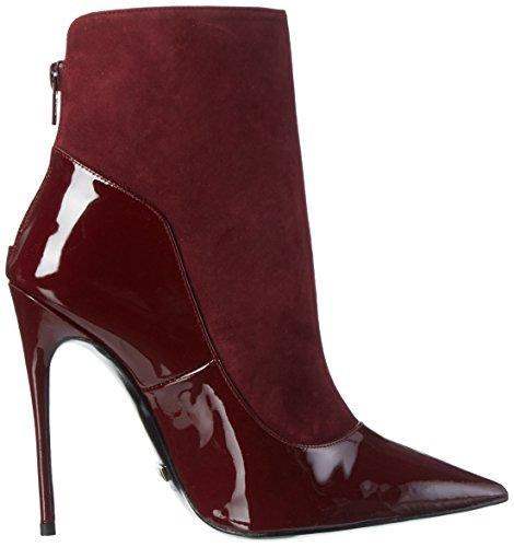 Buffalo London 12206-314 Suede Patent, Botines para Mujer Rojo - Rot (RIOJA 01)
