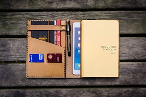 Leather Hobonichi Cousin/Techo Planner Cover - Natural