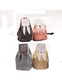 Women Girls Mini Bucket Style Key Chain Coin Purse Pouch-4 Pack