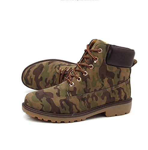 botas m¨¢s e antideslizante o hembra brit¨¢nicas invierno se oras ayudar amp;HX terciopelo Oto botas alto para retro camouflage Z Martin wv8Rx