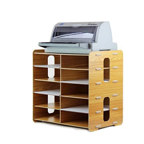 Portafiltro Caja de Almacenamiento de Escritorio de Madera para Oficina Estante de Archivo de Datos Multicapa (Color : B): Amazon.es: Electrónica