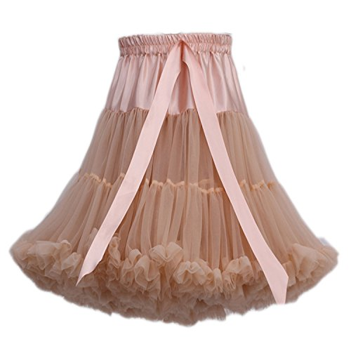 en danse Petticoat de en FOLOBE soie jupe Tutu bouffante tutu de multicouche ballet jupe de Tulle Kaki femmes Costume adulte mousseline mousseline luxueux gxaaZnpqEw