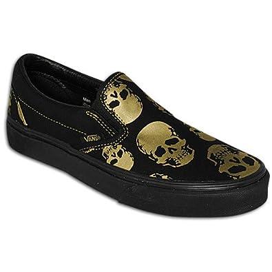 79c6bf9836d1a Vans Classic Slip On (Multi Skull) Black/Rich Gold Shoe EYEAVA (UK7 ...