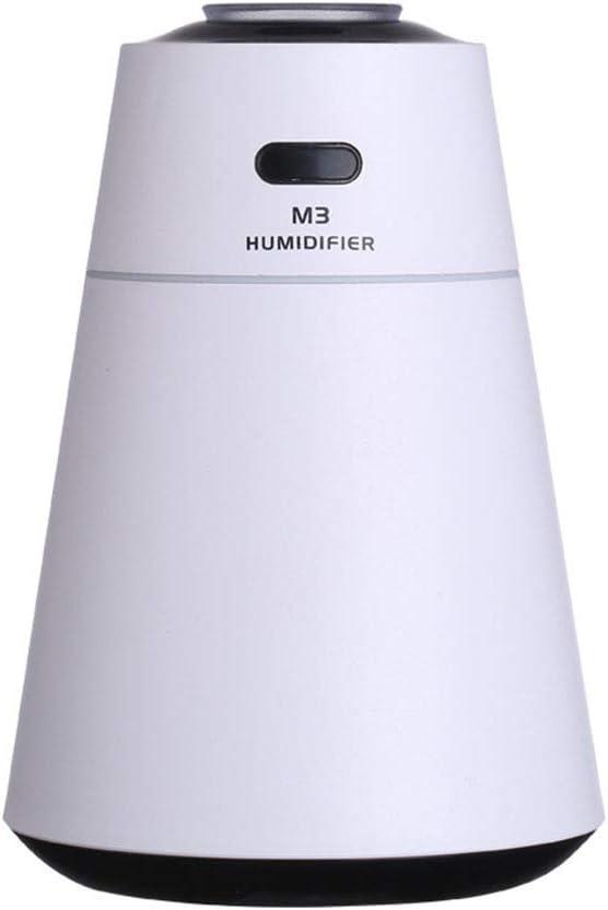 R&Y Humidificador, Humidificador ultrasónico de 2 litros, USB Sin Ruido y Luz Nocturna de 7 Colores, Apaga regularmente para Evitar la Quema en seco y la humidificación,White: Amazon.es: Hogar