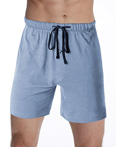 Hanes Men's Jersey Lounge Drawstring Shorts with Logo Waistband