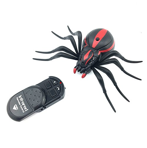 LNL Remote Control Realistic Spider Toys For Kids, Halloween Christmas Gift for Prank or Trick