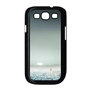 Samsung Galaxy S3 Case,Starry Night Sky Big City Hard Shell Back Case for Black Samsung Galaxy S3 Okaycosama433842
