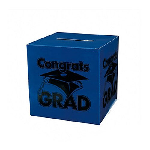 Congrats Grad Blue Card Box by Fun (Graduation Party Stuff)