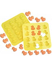 MoldFun 2-Pack Mini Size Rubber Duck Silicone Mold for Chocolate, Candy, Gummy, Jello, Ice Cube, Polymer Clay, Crayon Melt