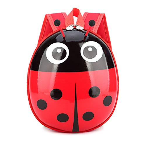 Children's hard shell cartoon school bag, cute ladybug shape small backpack, holiday gift, backpack, suitable for boys and girls - Ladybug Cute Little