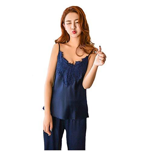 Seta Da Summer Raso Sexy Sleepwear JYHTG Notte Pigiama L Set Pigiama Women New Set In Di UpwnOF