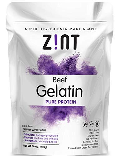 Unflavored Gelatin Powder (10 oz): Anti Aging Collagen Supplements, Protein, Paleo Friendly, Grass Fed Beef, Non GMO - Baking & Thickening - Beauty, Skin, Hair & Nails