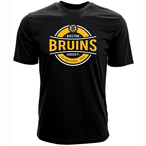 (Levelwear NHL Boston Bruins Mens Advantage Richmond Tee, Black, Medium)