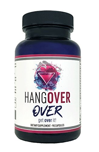 Hangover Prevention and Liver Support - Hangover Over - All-Natural Organic Milk Thistle, Bocopa, Ashwagandha, Rhodiola, Gingko, Grape Seed, N-Acetyl Cysteine - 100% Money Back Guarantee