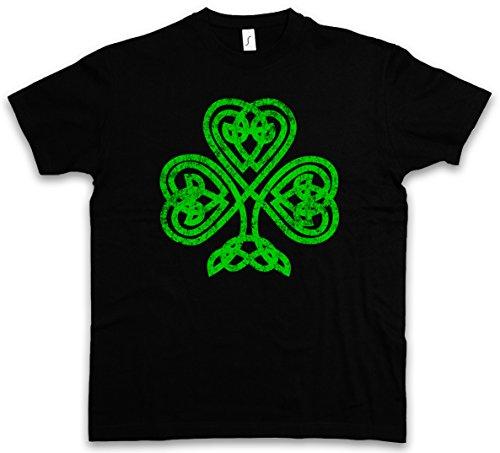 SHAMROCK IRISH KNOT I T-SHIRT – Cloverleaf Irland Ireland Kleeblatt Kelten Knoten Runes Rune Größen S – 5XL