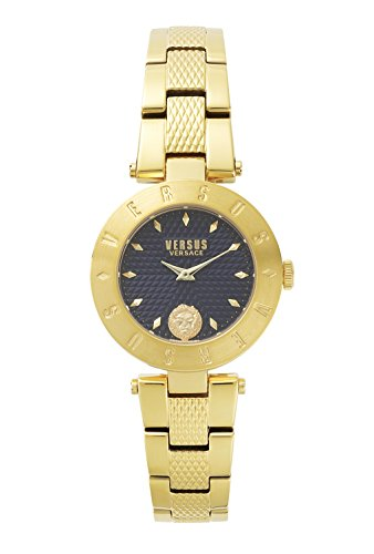 Versus by Versace Women's 'NEW LOGO' Quartz Stainless Steel and Gold Plated Casual Watch(Model: - New Versace